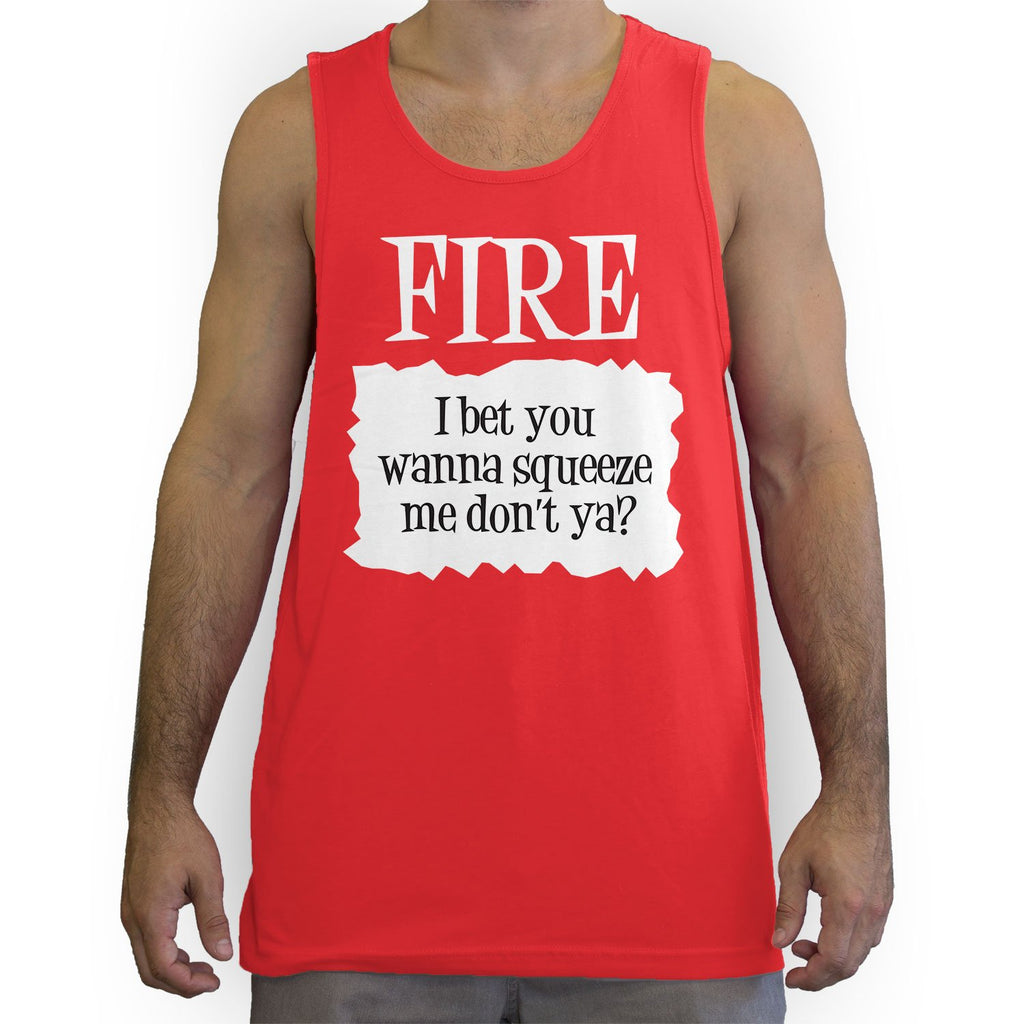 Function -  Fire Hot Sauce Costume Men's Fashion Tank Top Red