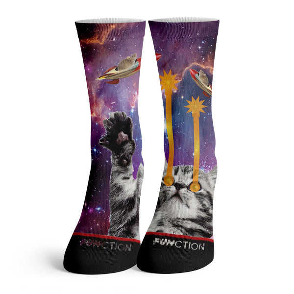 Function - Laser Space Cat Fashion Socks Front Model