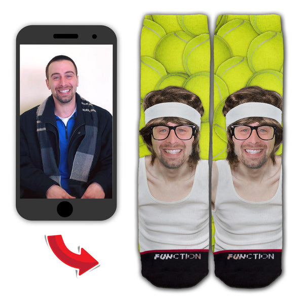 Custom Retro Skinny Tennis Player Fashion Sock