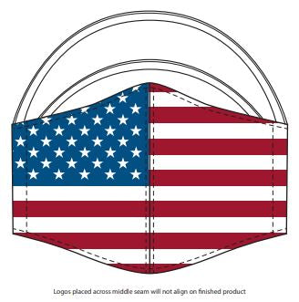 USA Stars and Stripes Face Cover