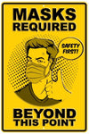 Mask Required Metal Sign