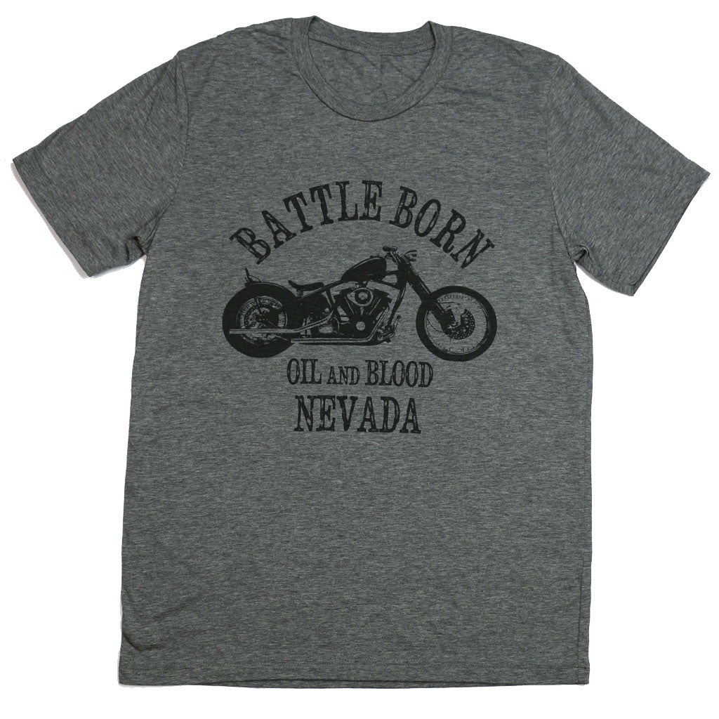 Battle Born - Grey Mens tee