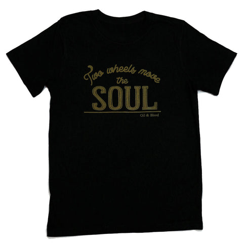 Two wheels move the soul- mens tee