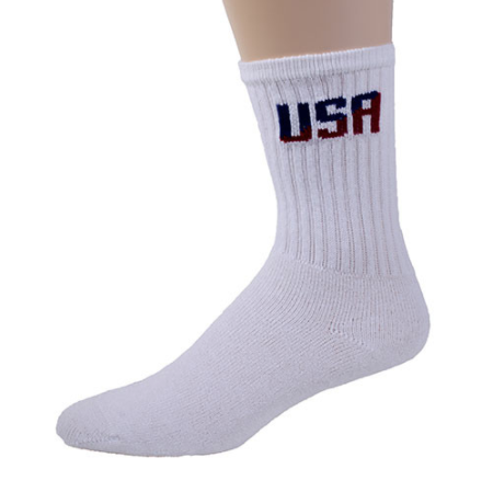 USA White Socks 3 Pack