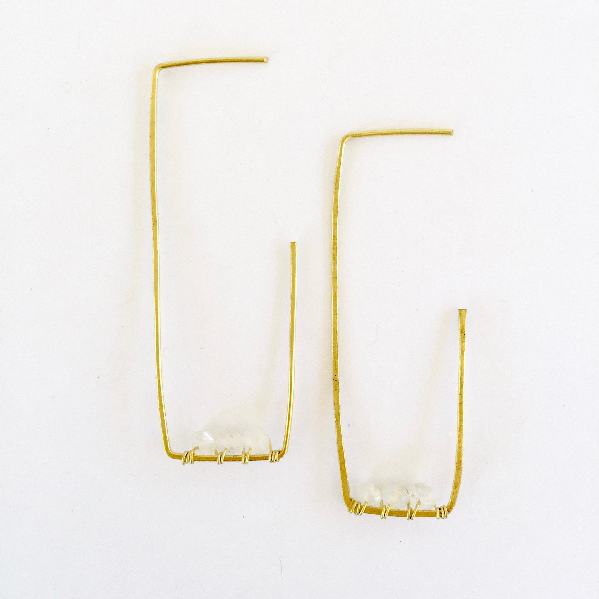 Amelia Earrings in Moonstone