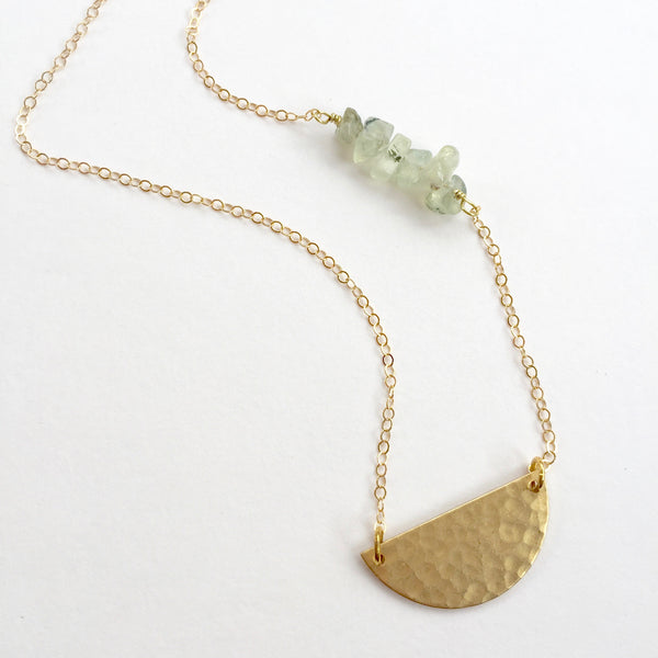 Charlie Necklace in Prehnite