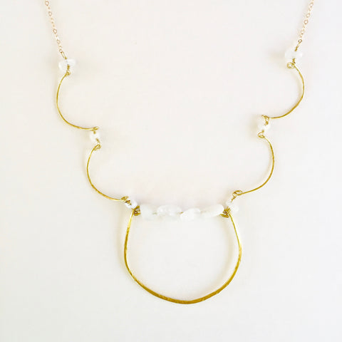 Charlotte Necklace in Moonstone