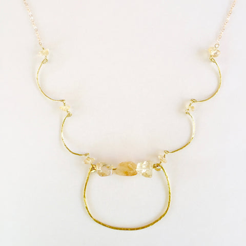 Charlotte Necklace in Citrine