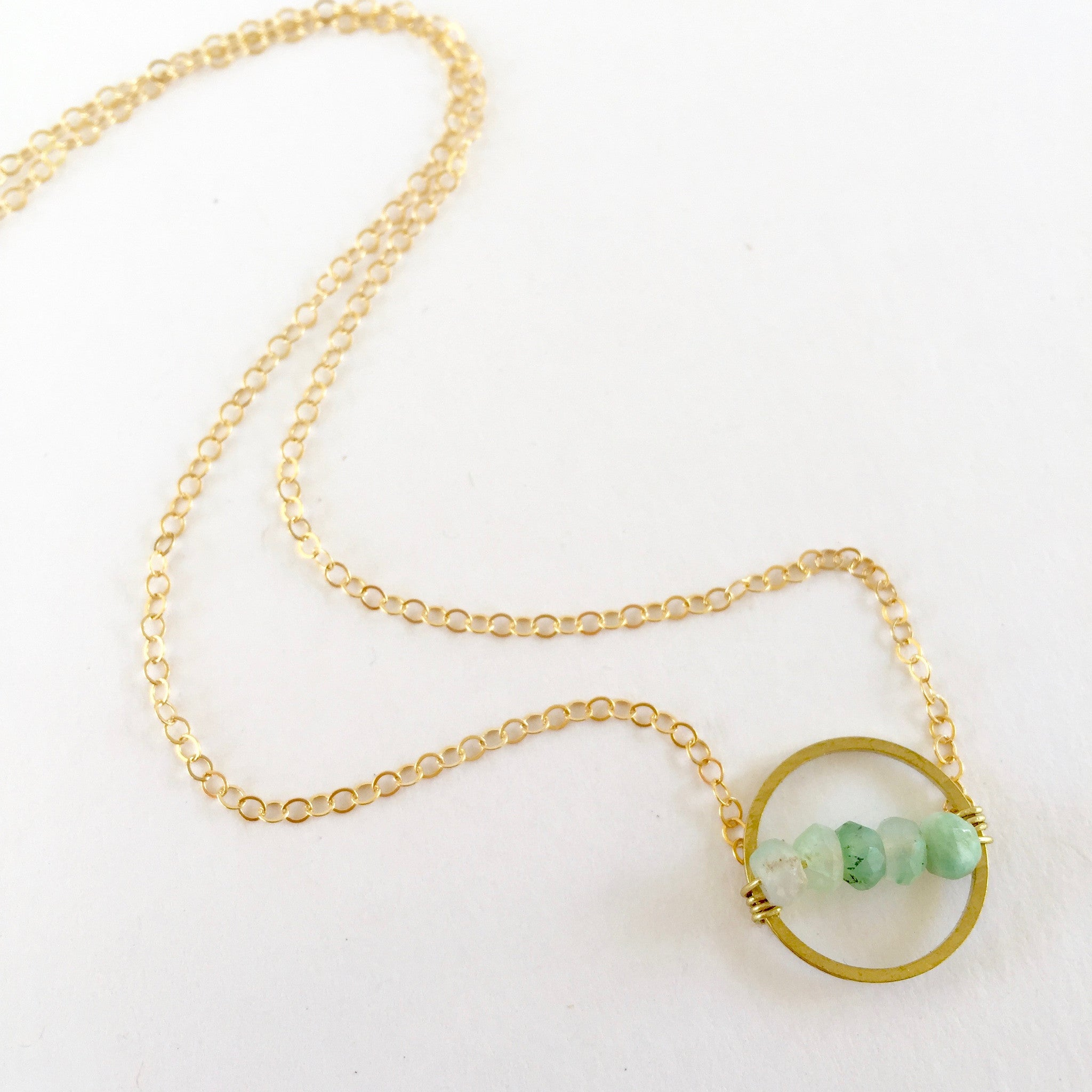 Layton Necklace in Chrysoprase