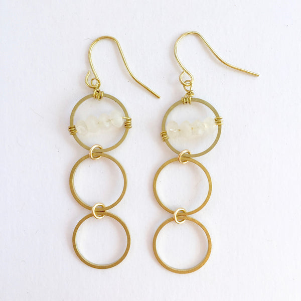 Layton Earrings in Moonstone