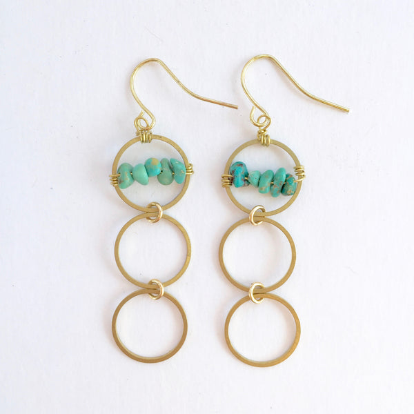 Layton Earrings in Turquoise