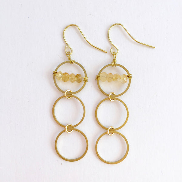 Layton Earrings in Citrine