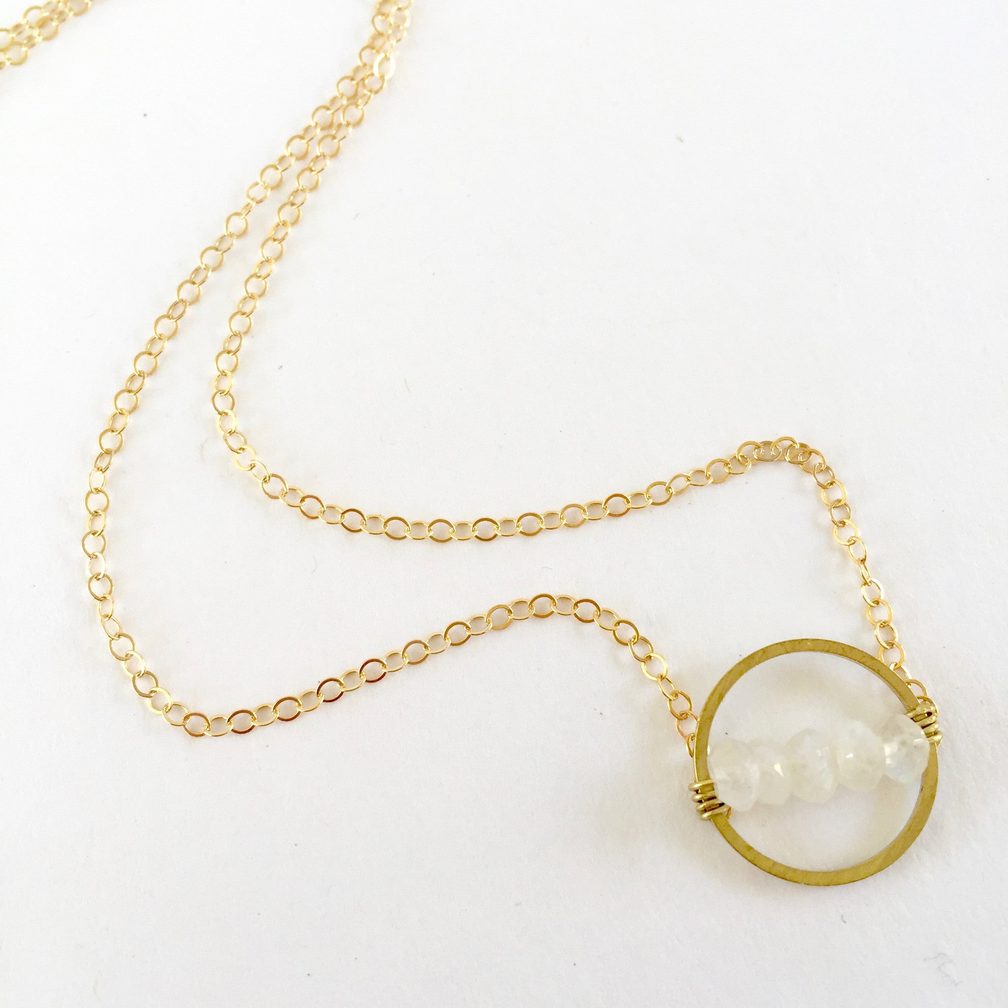 Layton Necklace in Moonstone