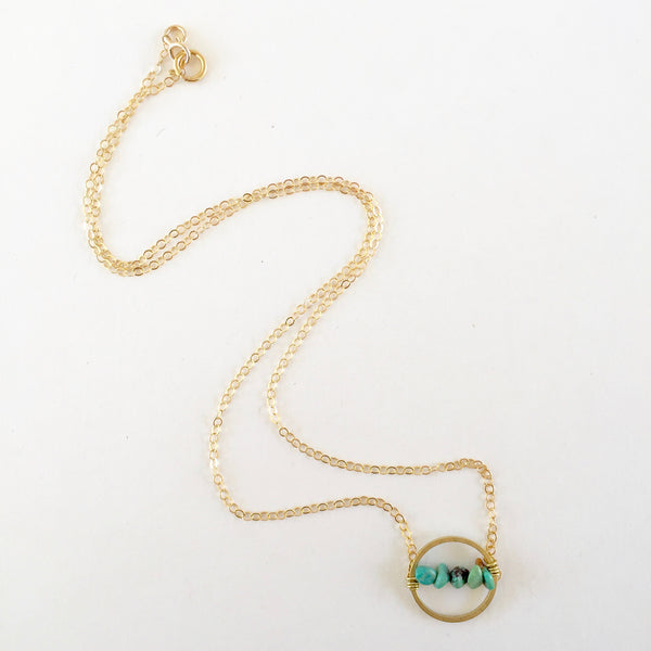 Layton Necklace in Turquoise