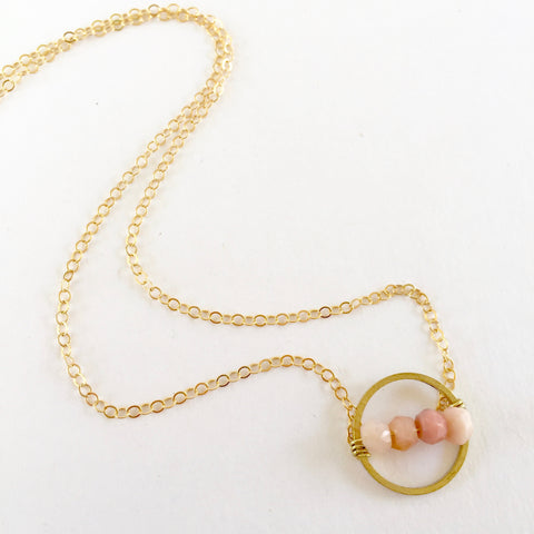 Layton Necklace in Pink Opal