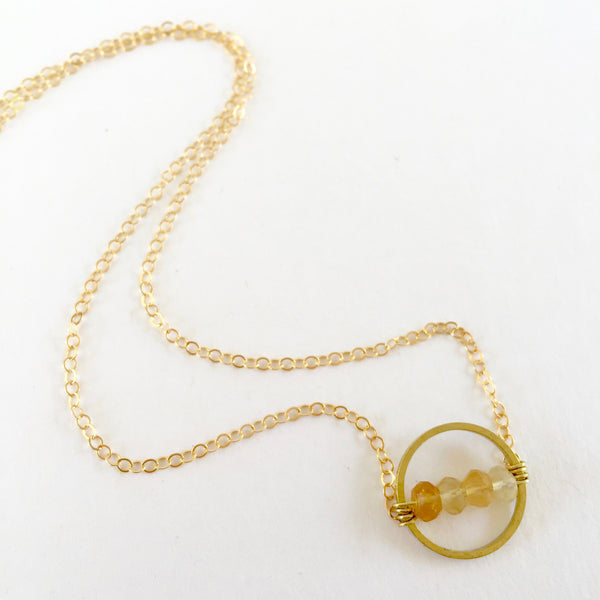Layton Necklace in Citrine