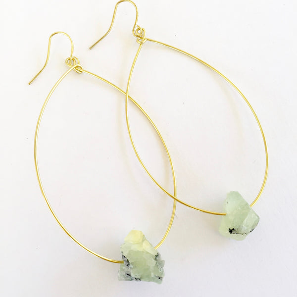 Molly Earrings in Prehnite
