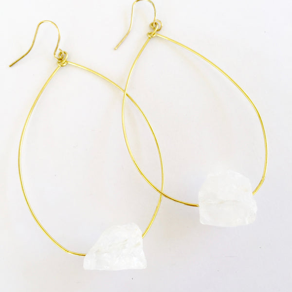Molly Earrings in Quartz