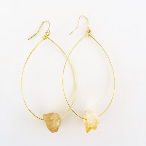 Molly Earrings in Citrine
