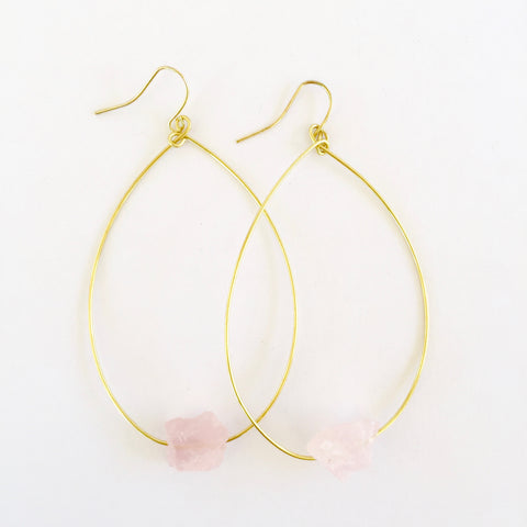 Molly Earrings in Rose Quartz