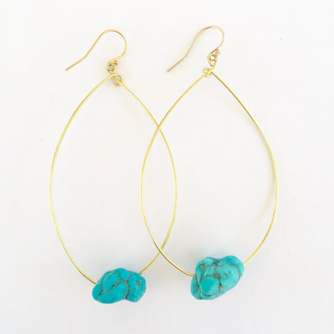 Molly Earrings in Turquoise