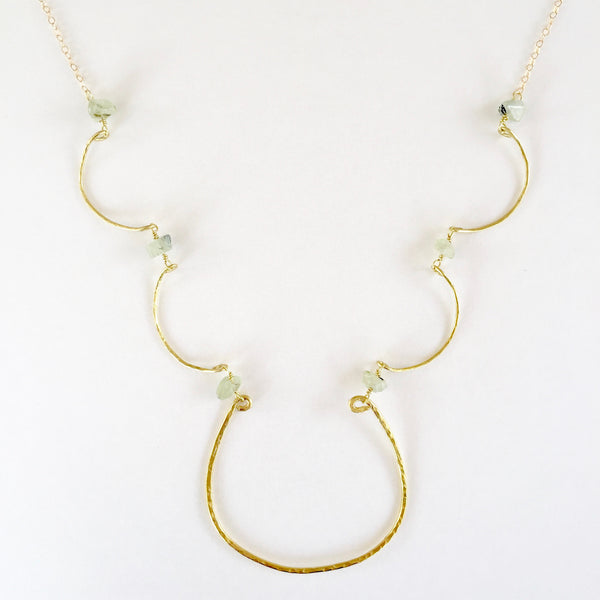 Simple Charlotte Necklace in Prehnite