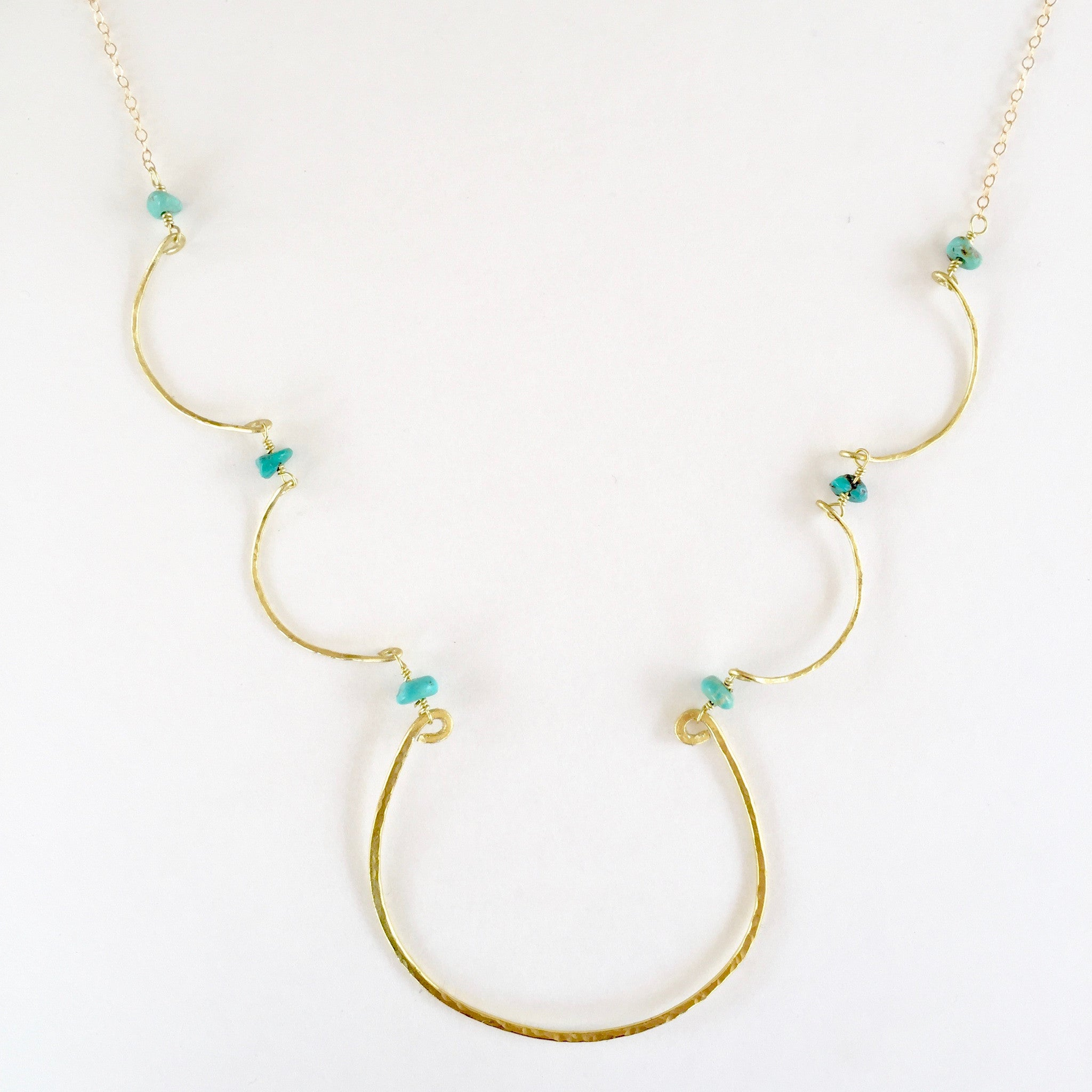 Simple Charlotte Necklace in Turquoise