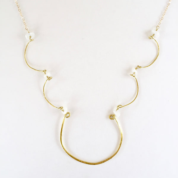 Simple Charlotte Necklace in Moonstone