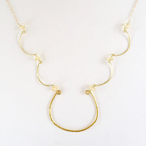 Simple Charlotte Necklace in Citrine