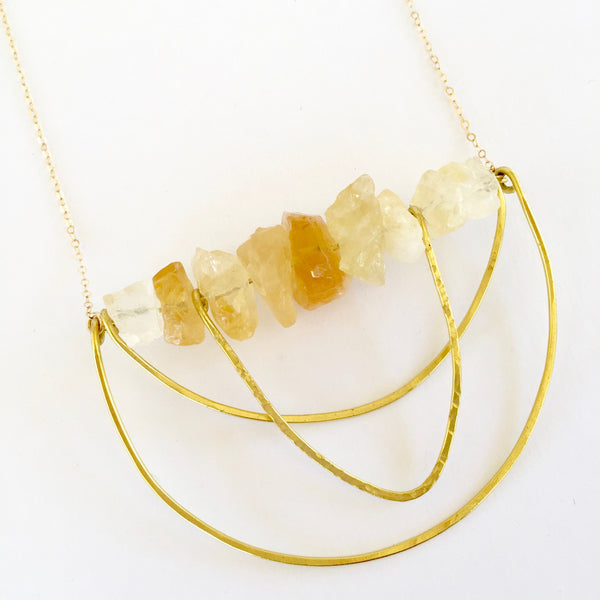 Piper Necklace in Citrine