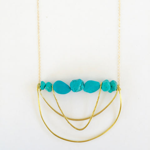 Piper Necklace in Turquoise