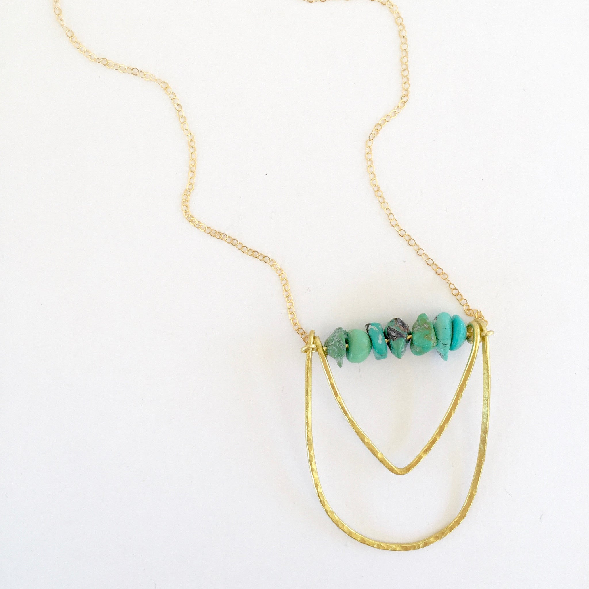 Mini Piper Necklace in Turquoise