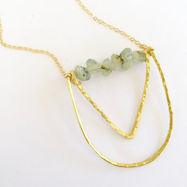 Mini Piper Necklace in Prehnite