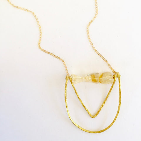 Mini Piper Necklace in Citrine