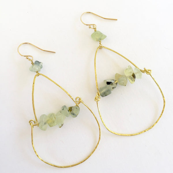 Piper Earrings in Prehnite