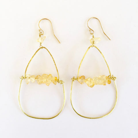 Piper Earrings in Citrine