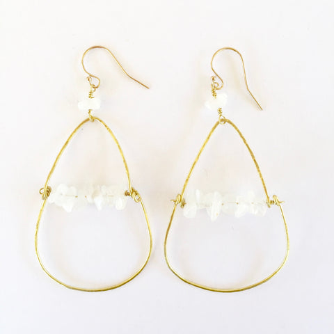 Piper Earrings in Moonstone