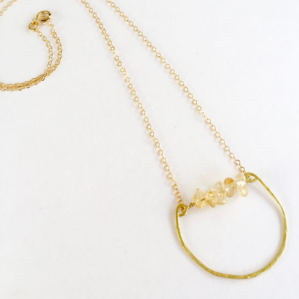 Mini Rebecca Necklace in Citrine