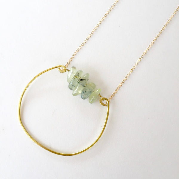 Rebecca Necklace in Prehnite