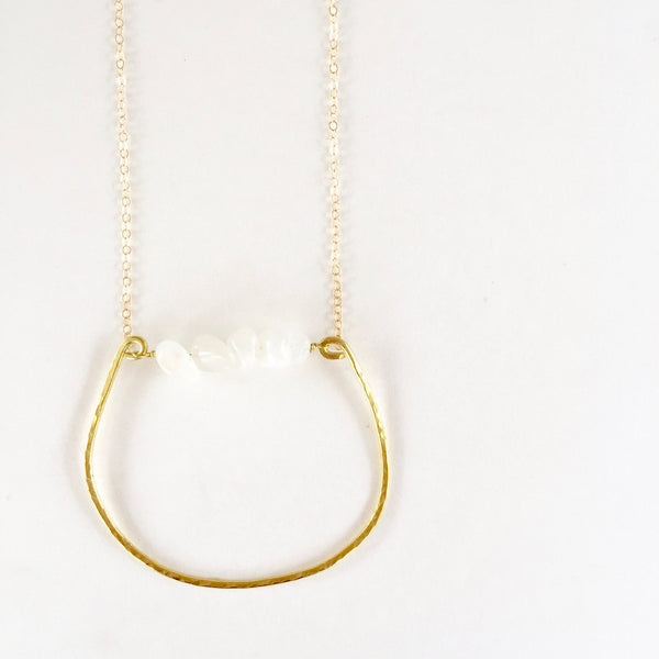 Rebecca Necklace in Moonstone