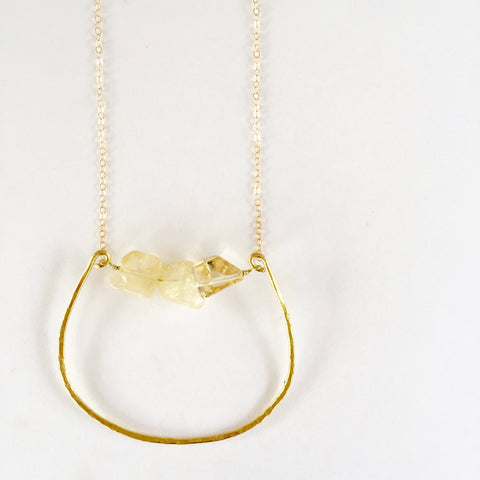 Rebecca Necklace in Citrine