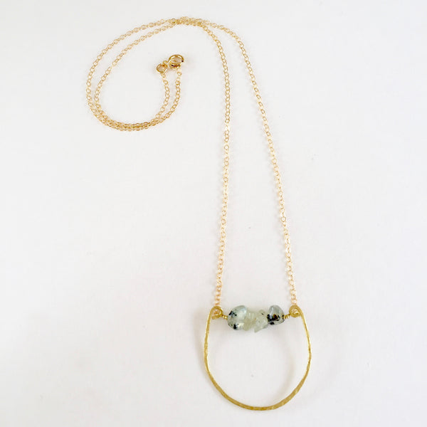 Mini Rebecca Necklace in Prehnite