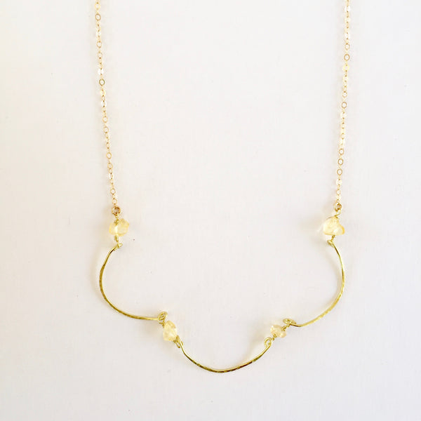 Mindy Necklace in Citrine