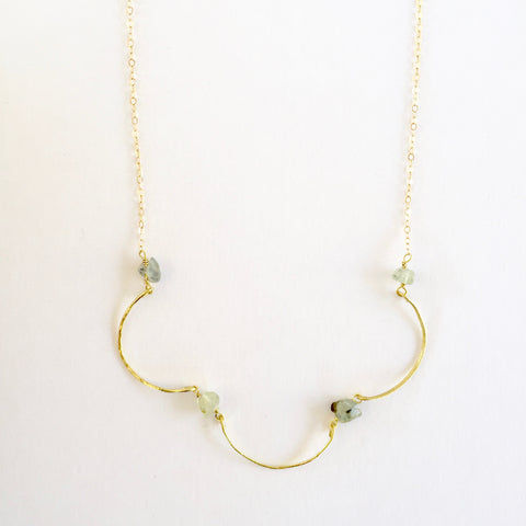 Mindy Necklace in Prehnite