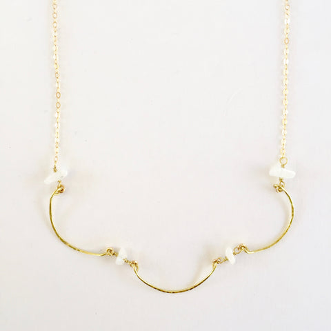 Mindy Necklace in Moonstone