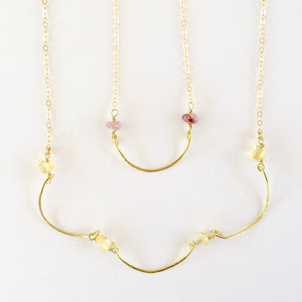 Mini Mindy Necklace in Citrine