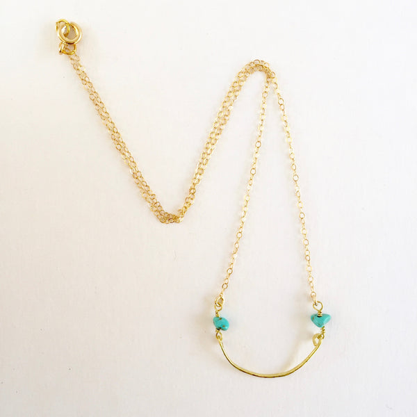 Mini Mindy Necklace in Turquoise