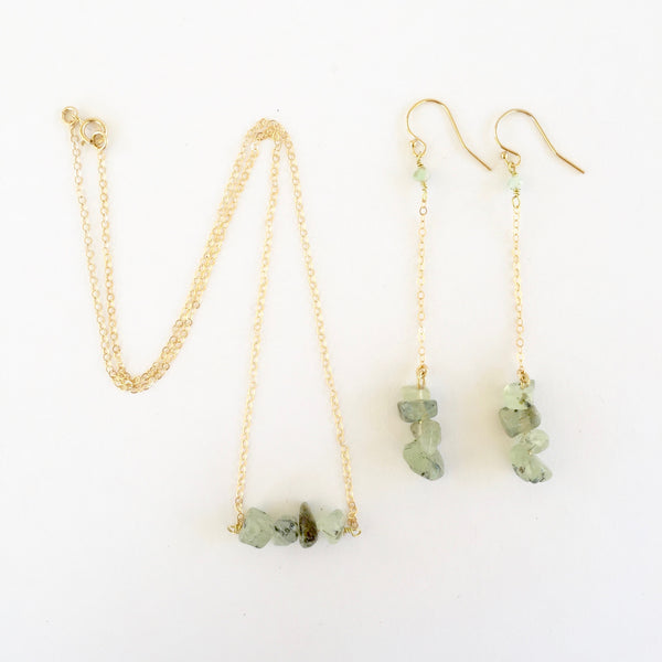 Shelly Necklace in Prehnite