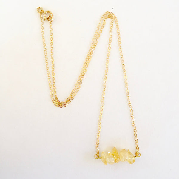 Shelly Necklace in Citrine