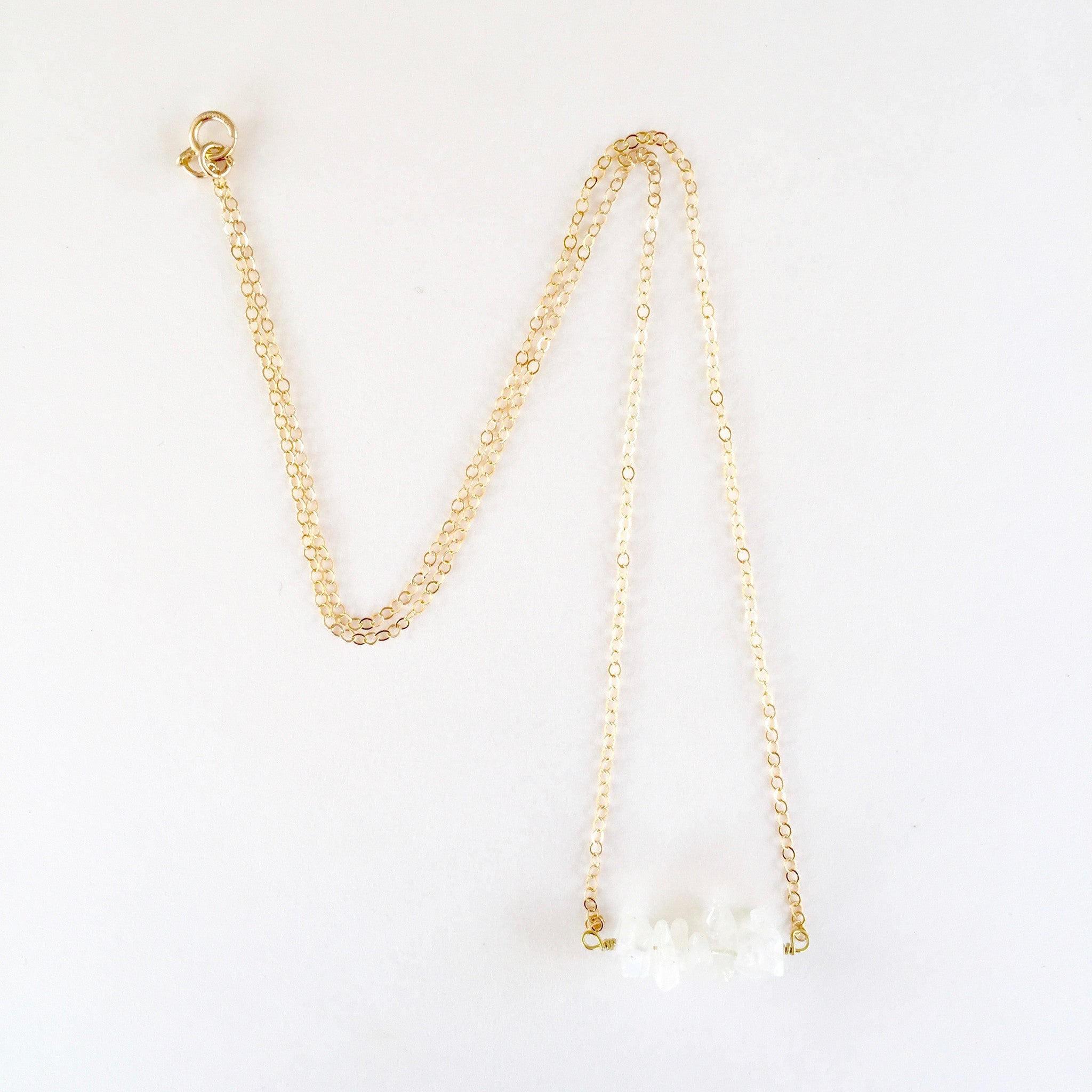 Shelly Necklace in Moonstone